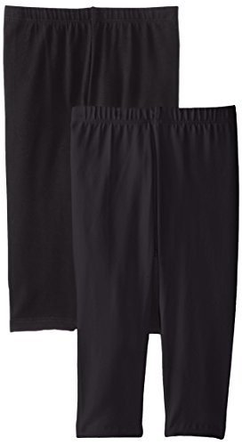 The Children's Place Girls' Big Cropped Leggings (Pack of 2), Black, X-Large (14)