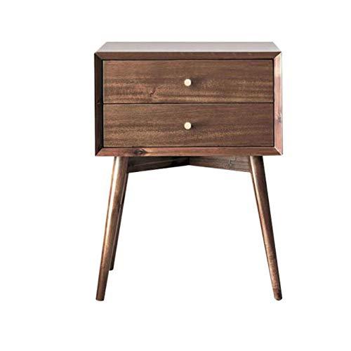 Mesa auxiliar móvil, mesas Mesita de noche de madera maciza, casilleros de dormitorio modernos y sencillos, armario tipo cubo con cajones, mesa de noche de roble, mesa de centro de 2 cajones Color: ma