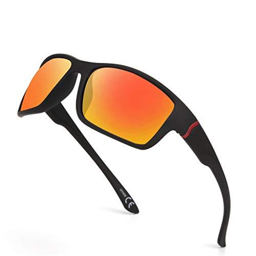 LUCKYCAT Vintage Nicht Polarisiert Sonnenbrille für Damen Herren UV400 Schutz Ultraleicht Rahmen