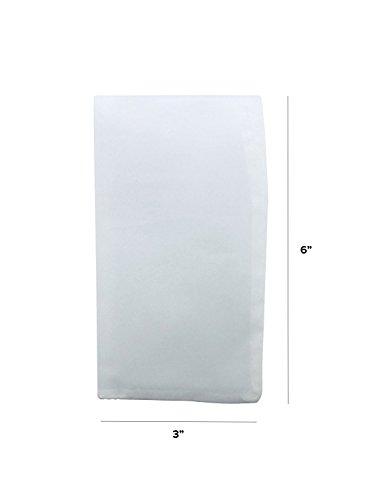 "120 Micron | Premium Nylon Tea Filter Press Screen Bags | 3"" x 6"" | 25 Pack | Zero Blowout Guarantee | All Micron & Sizes Available"