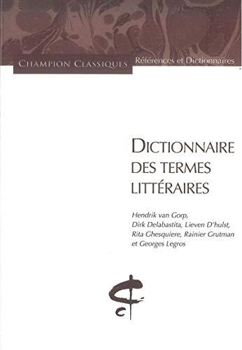 Dictionnaire des termes littéraires