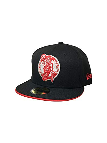 New Era Boston Celtics Hat, Cap 59Fifty Fitted Black (7 1/2)