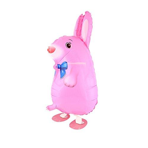 DekoRex® Airwalker Walking Pets Folienballon Foilballoon Tiere: Hase pink