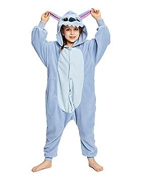 NEWCOSPLAY Halloween Unisex Child Stitch One-Piece Pajamas Costume  Stitch numeric_10