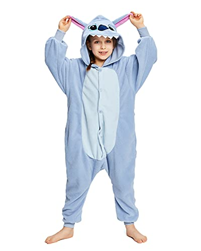 NEWCOSPLAY Halloween Unisex Child Stitch One-Piece Pajamas Costume (Stitch, numeric_10)