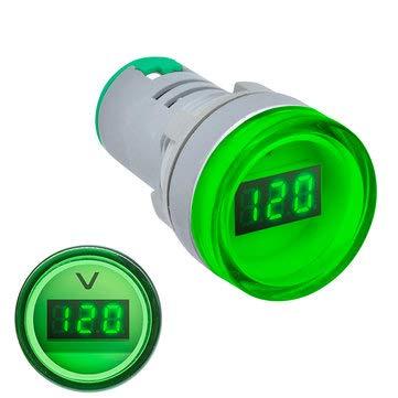 BouBou 22Mm Ad16 Ad16-22Dsv Tipo AC 60-500V Mini Medidor De Voltaje Led Pantalla Digital Voltímetro De Ca Luz Indicadora/Lámpara Piloto 110V 220V - Verde