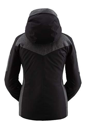 Spyder Damen Schatzi Gore-Tex Infinium Skijacke - Damen Wintermantel mit durchgehendem Reißverschluss und Kapuze, Größe 42, Schwarz
