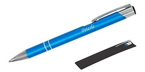 Kugelschreiber LIBOinkl. individueller Gravur - in Samthülle (Türkis)