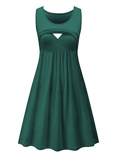 Product Image of the Liu & Qu Women's Sleeveless Nursing Dress Stripe Maternity Dress Breastfeeding...