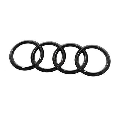 Audi 4M0071802 Emblema de anillos para portón trasero Black Edition, para Q7/SQ7 (tipo 4M) a partir de 2020