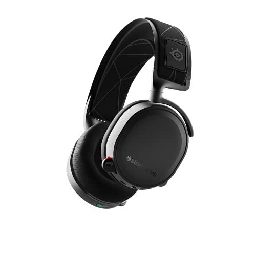 SteelSeries Arctis 7 Cuffie da Gioco - Wireless Senza Perdite - Tecnologia Surround DTS Headphone:X v2.0 per PC e PlayStation 5/PS4 - 10 - 40.000 Hz, Nero