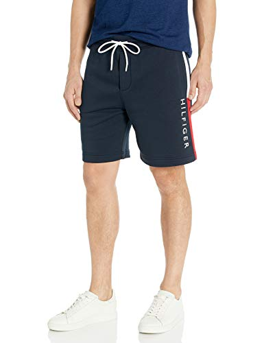 Tommy Hilfiger Men's Fleece Sweat Short, Sky Captain-PT, XS