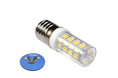 HQRP E17 Base 43 SMD 2835 LED Light Bulb Dimmable 110V Cool White for Microwave/Refrigerator/Kitchen Vent Hood/Range Hood Lights Replacement Plus HQRP Coaster