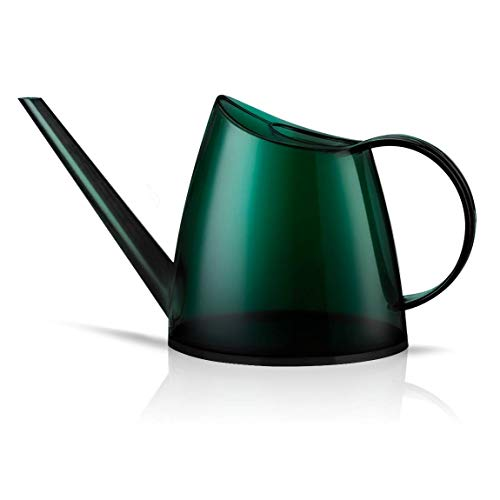 WhaleLife Indoor Watering Can for House Bonsai Plants Garden Flower Long Spout 40oz 1.4L 1/3 Gallon Small Modern Translucent Green