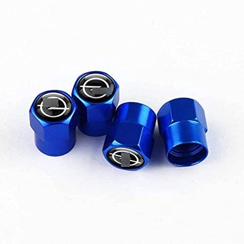 4 Piezas Coche Tapas de Válvula para Op-el Astra Corsa Insignia Mokka OPC Vectra Zafira, Cubiertas Impermeables de Prueba de Polvo Tapones de Válvula de Neumáticos