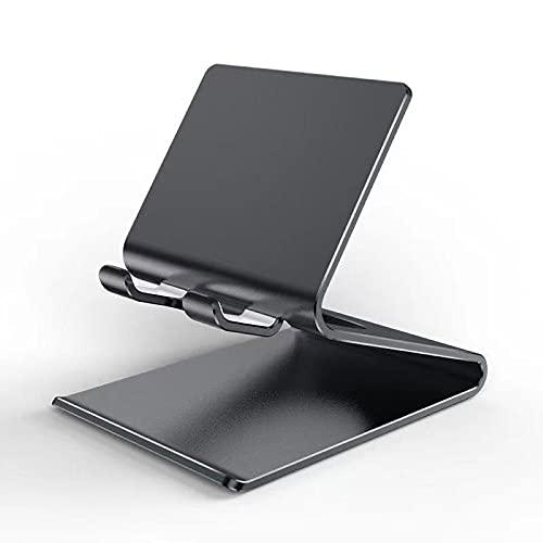 Supporto per telefono in metallo Supporto per tablet pieghevole Supporto da tavolo Supporto per telefono cellulare retrattile portatile nero