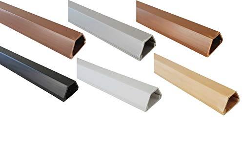 netproshop Kabelkanal 19x16mm Innenmaß PVC (Trapezförmig, Selbstklebend) (1 Meter), Farbe:Braun