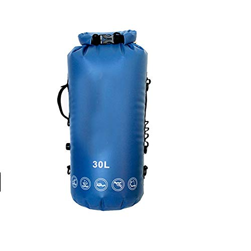 DAMAI STORE Outdoor Backpack Full Airtight Shoulder Waterproof Bag For Diving Cave Exploration Swimming Storage Bag (Color : Blue)