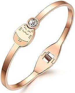 OPK Spring Fashion Cat Design Sweet Ladies Bracelet 18K Rose Gold Plating Bracelet For Women