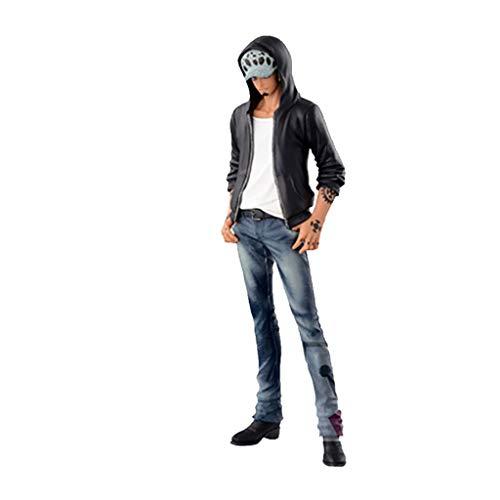 ZRY One Piece: Trafalgar D Law (Lederjacke) Action-Figur Modell Geschenk Statue-Dekorationen von One Piece Puppe Ornamente