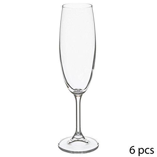 Secret de gourmet 6 Flûtes à Champagne Tana - 22 cl - Cristallin