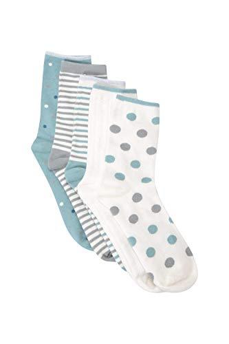 Mountain Warehouse Calcetines Estampados de Uso Diario para Mujer - 5 Pares,...