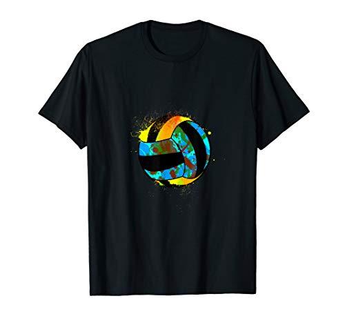 Bunter Volleyball Sport für echte Sportler & Volleyball Fans T-Shirt