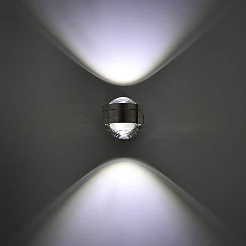 Glighone Moderne 6W LED Wandleuchte Wandlampe Innen Aluminium kreative moderne minimalistische Kulisse LED Wandlampe Nachtwandlampe Schlafzimmerlampe Wohnzimmer Flur Flurlampe,kaltes Weiß