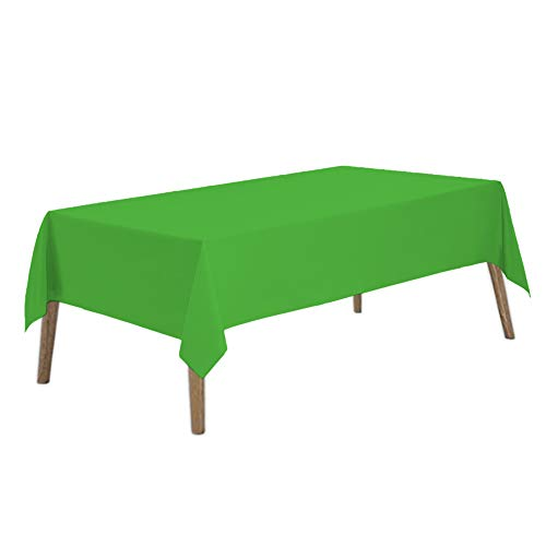 Lime Green Plastic Tablecloths 2 Pack Light Green Disposable Table Covers 54 x 108 Inch Shower Party Tablecovers PEVA Fruit Green Table Cloths for Birthday Wedding Parties 8 ft Rectangle Table Use