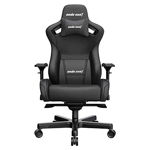 Anda Seat Kaiser 2 Gaming Chairs, Ergonomic XL Computer Office Chair with 4D Adjustable PU Armrest,160°PVC Leather Swivel Rocker Video Game Chairs with Headrest Lumbar Pillow for Home Adult-Black