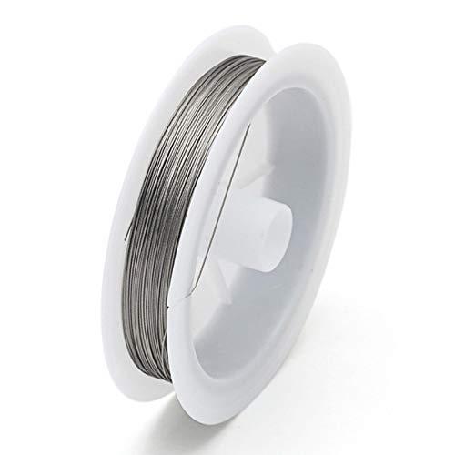 1 cordón de abalorios de joyería elástica para joyas, hilo de hilo de hilo con cuentas de alambre trenzado