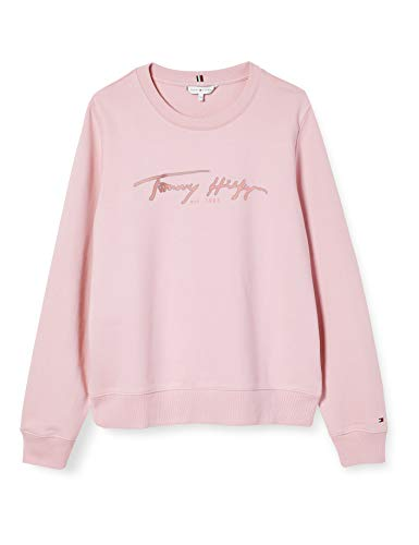 Tommy Hilfiger Damen Bobo Regular C-nk Sweatshirt Ls Pullover, Rosa (Pastel Pink), S