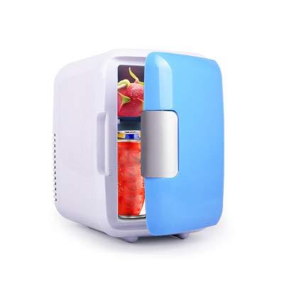 Mini Refrigerador De 4 litros, Enfriador Y Calentador Compacto/Mini Refrigerador Congelador De Una Puerta, Adecuado para Automóvil, Viaje por Carretera, Hogar, Oficina,Gris