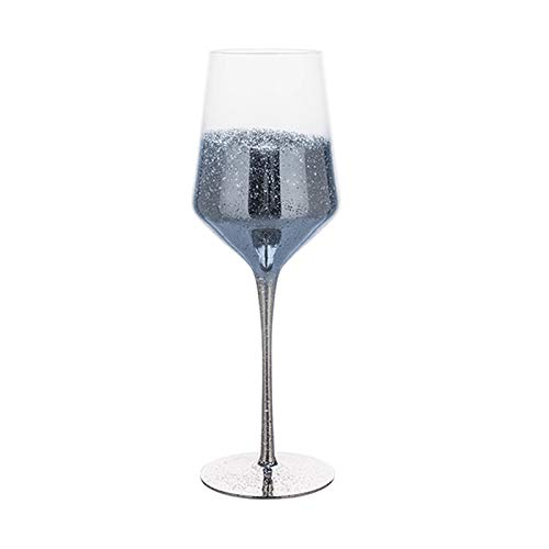 Einfachheit Haushaltscocktailglas 480ml Rotweinglas Champagnerglas Kristallglas Stemware Glas 8,5x25.8cm MUMUJIN (Color : Blue)