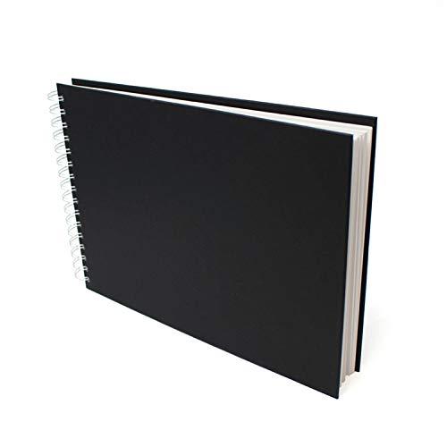 Artway Studio - Skizzenbuch mit Spiralbindung - säurefreies Zeichenpapier - Hardcover - 48 Blatt mit 170 g/m² - A4 Querformat