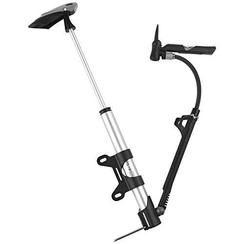 Diyife Bomba De Suelo para Bicicleta, [VersióN MáS Nueva] Mini Bomba PortáTil para Bicicleta [140 PSI] Bomba De Bicicleta para Carretera, MontañA& BMX Se Adapta A Presta & Schrader