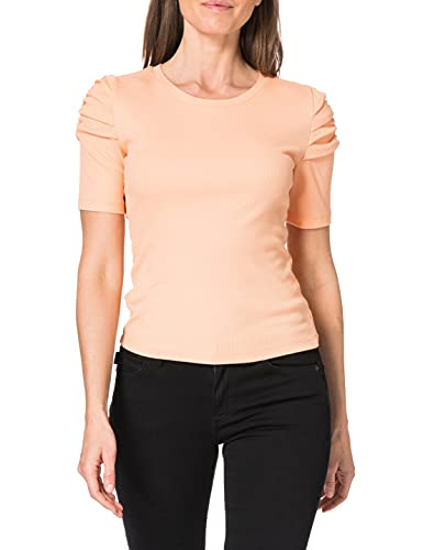 ONLY Damen ONLONELLY S/S Gathering TOP JRS T-Shirt, Coral Sands, S