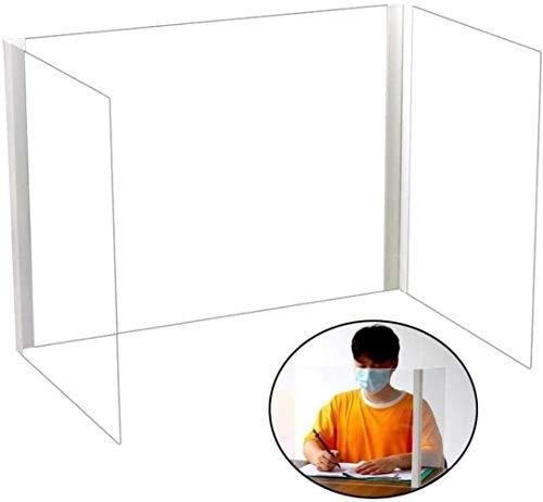 ATRNA Plexiglas-Schild, dreiseitig, U-förmig, klappbarer Esstisch, Schreibtisch-Isolierung, Trennwand, Trennwand für Studenten und Studenten