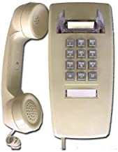 Single Line Classic 2554 Wall Phone with Loud Ringer and Handset Volume Control, Beige/Ash - Wall Mount Jack Required