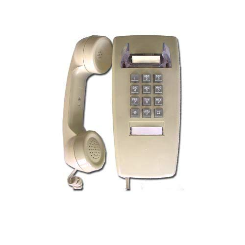 Single Line Classic 2554 Wall Mountable Phone with Loud Ringer and Handset Volume Control Switch, Wall Mount Jack Required, Ash