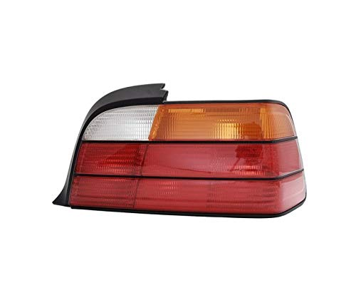 Fanale posteriore destro, compatibile con BMW Serie 3 E36 Coupe Cabrio 1992 1993 1994 1995 1996 1997 1998 1999 316i 318i 318is 320i 323i 325i 328i VT702P Fanale posteriore Lato enger Giallo