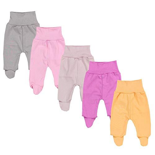 TupTam Pantalón con Pies de Bebé Paquete de 5 pies, Niña 4, 74