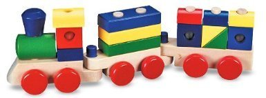 Melissa & Doug Incredible Stacking Train With Interchangeable Pieces - Age Range 2 Years And Up Toy / Game / Play / Child / Kid by TT-PLAY