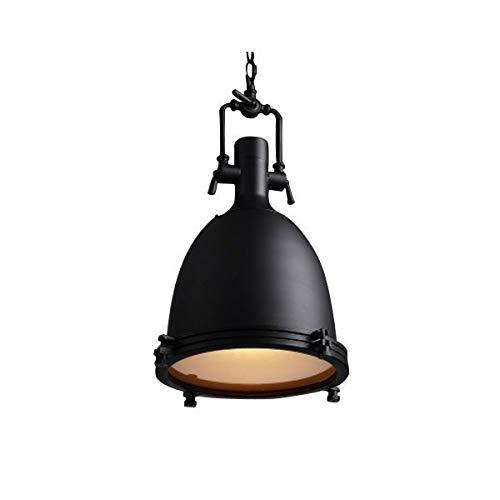 Lámpara de araña vintage de estilo industrial, para restaurante, bar, de metal, para cocina, estudio, sencilla lámpara LD0104 (color F)