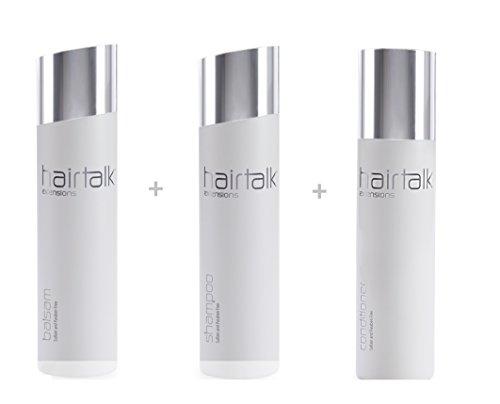 HAIRTALK Arcos Pflegeset Shampoo 250 ml + Balsam 250 ml + Conditioner 200 ml für Extensions,Haarverlängerungen,Bondings