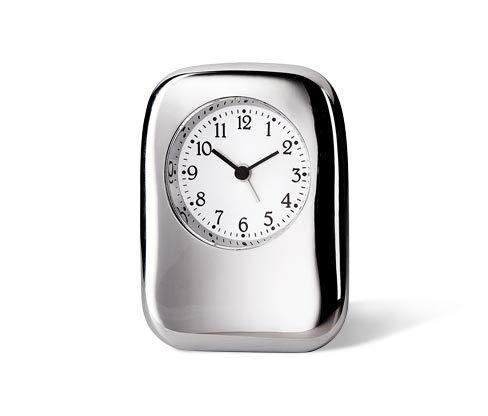 Tchibo Wecker Alarm Clock Reiseuhr Hochwertig verchromtes Metallgehäuse Quartzwerk Snooze Funktion Crescendo Alarm: Ansteigende Weckton