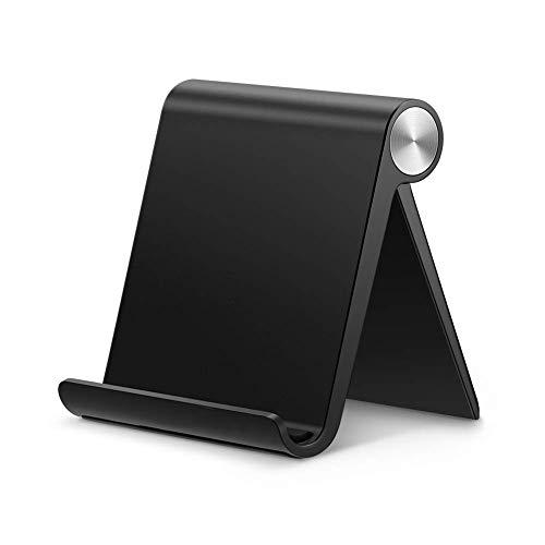 UGREEN Soporte Móvil, Multiángulo Soporte de Celular Ajustable de 0 Grados a 100 Grados para Teléfonos Móviles como iPhone, Samsung, Huawei, Xiaomi y Más (Black)