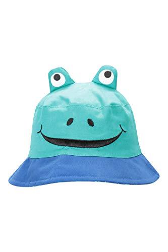 Mountain Warehouse Chapeau bob Character - 100% Coton, Entretien Facile, Bordure Large - pour Voyage, Camping et Plage Bleu Cobalt M/L