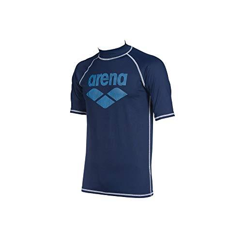 Arena Herren Sonnenschutz Shirt Rash Icons, Maglietta UV. Uomo, Blu Navy, M