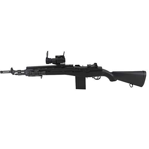 Amont Fusil Tipo M14 Socom con Visor y Linterna Calibre 6mm - Negra - Energía 0.5 Julios - Velocidad de Disparo 85m/s - 278 FPS. Ref: M160A2